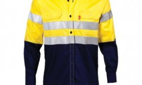 LS TWO TONE REFLECTIVE WORK SHIRT - YELLOWNAVY