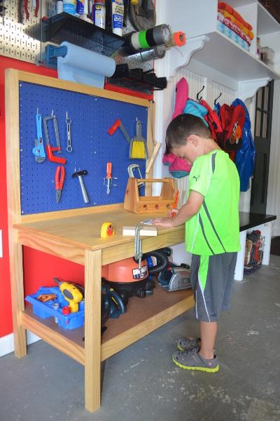 Diy Kids Workbench Free Step By Step Build Plans Copewood