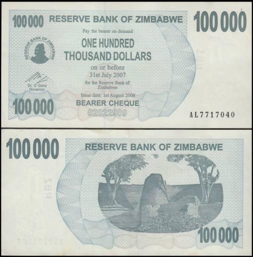 Simbabwe 100.000 Dollar