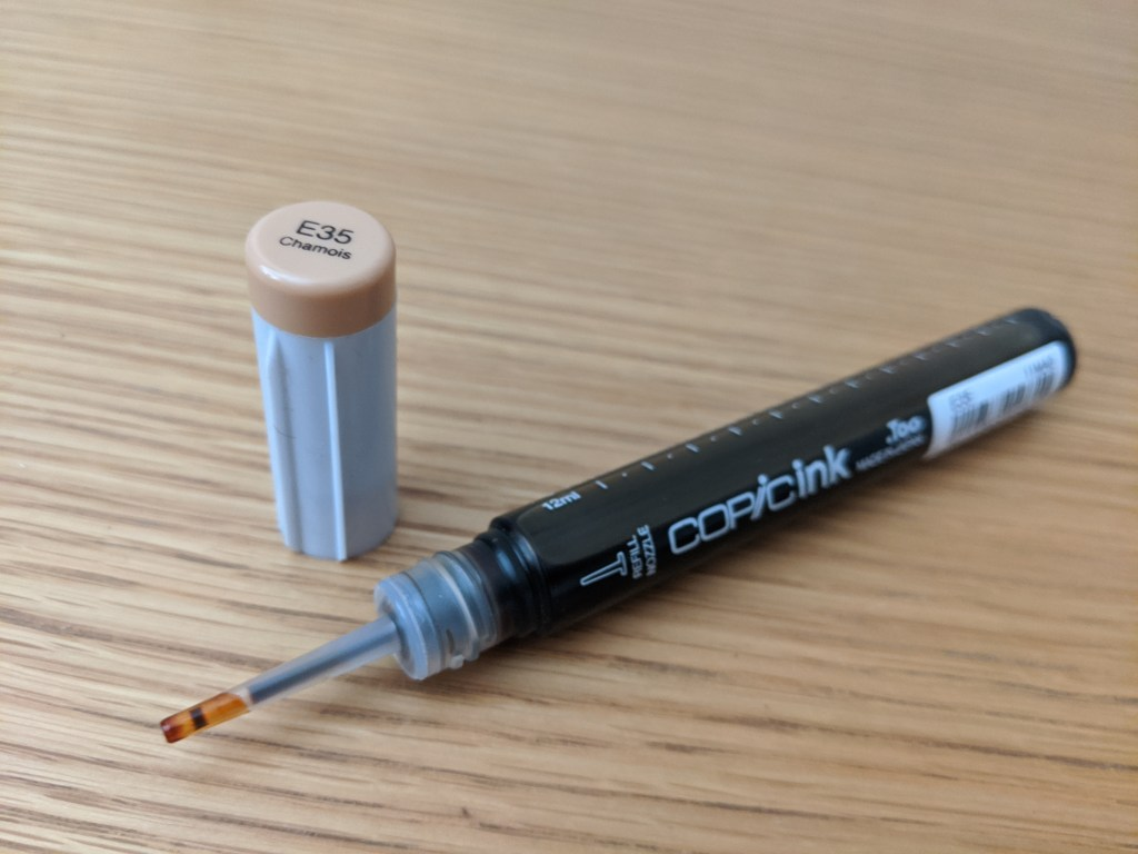 The 12ml Copic Refill's easy to use nozzle