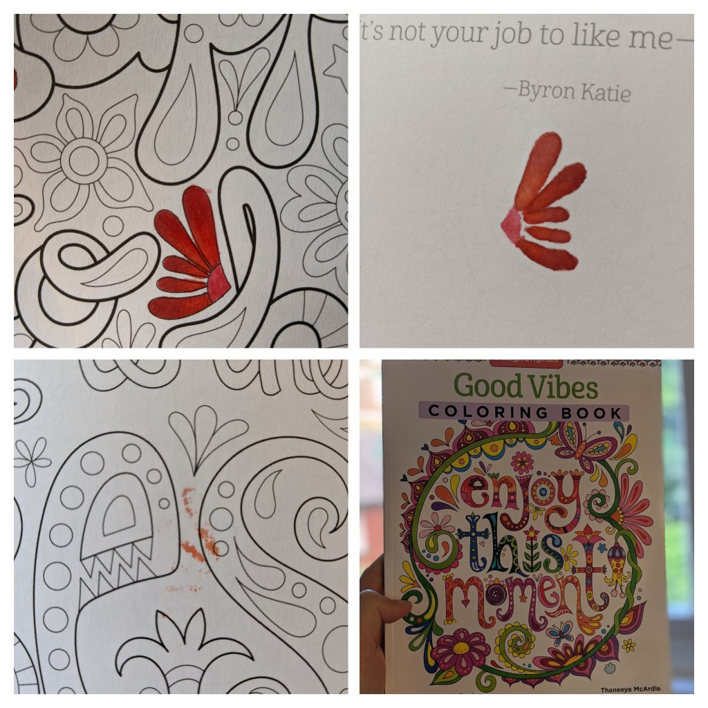 Using Copic Markers on the Good Vibes Coloring Book