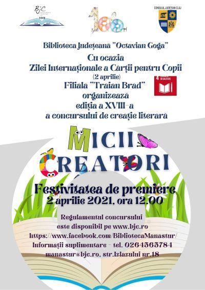 """Concursul de creație literară """"Micii creatori"""" și-a desemnat câștigătorii!"""