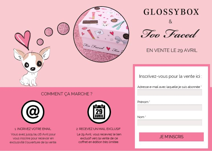 bon plan glossybox too faced