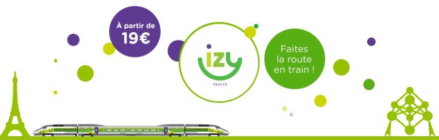 bon plan voyage IZY Paris-Bruxelles