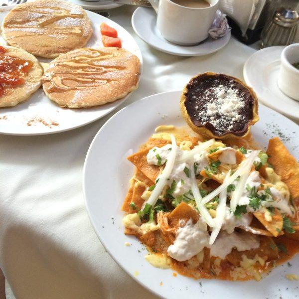 petit dejeuner hotel caribe merida chilaquiles