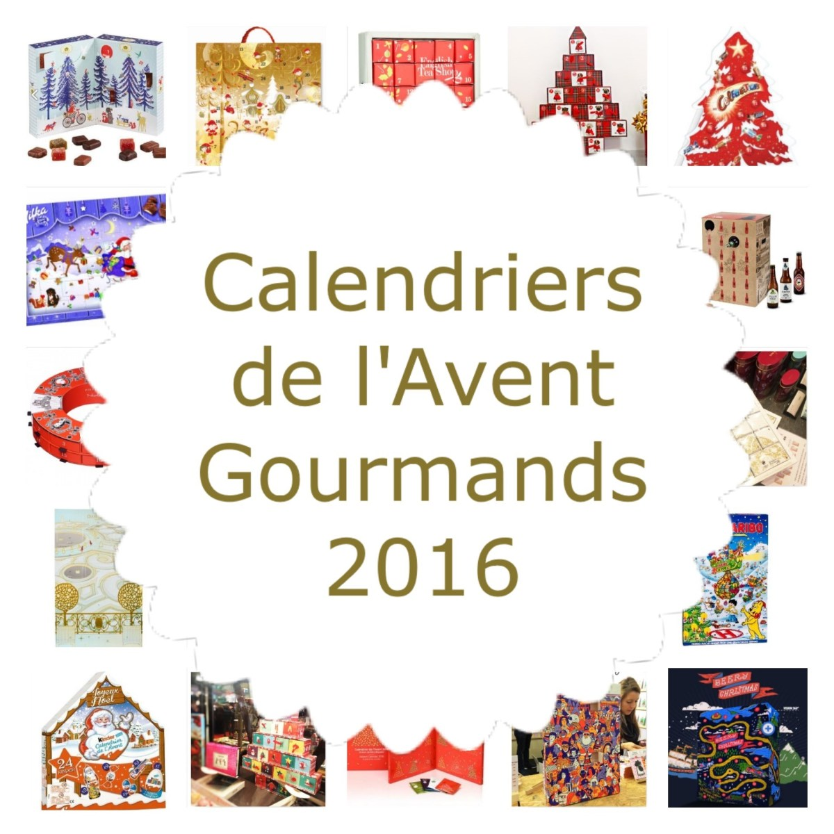 Plus de 20 calendriers de l'Avent Gourmands 2016 (Chocolats...)