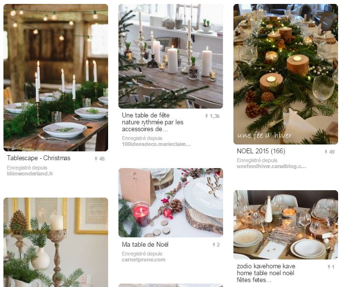 Pinterest Table de Noel Copinesdebonsplans - table de noël style naturel