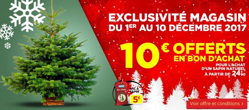 Bon Plan sapin Bricorama