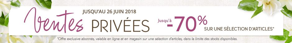Ventes privees Yves Rocher
