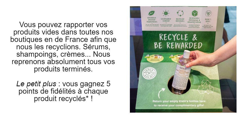 Recyclage KIEHL'S