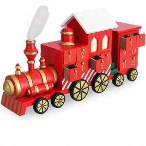 DEUBA – Calendrier de l'avent bois à remplir – Forme locomotive