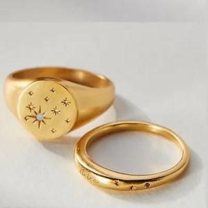 ANTHROPOLOGIE – Zodiac Ring Set