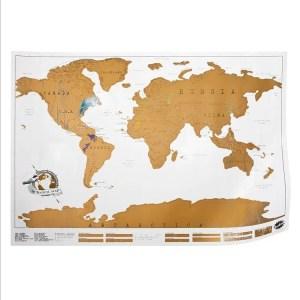 NATURE & DECOUVERTES – Carte du monde à gratter