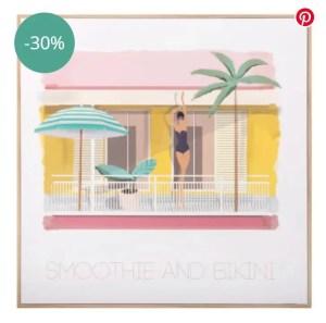 MAISONS DU MONDE – Tableau imprimé terrasse retro