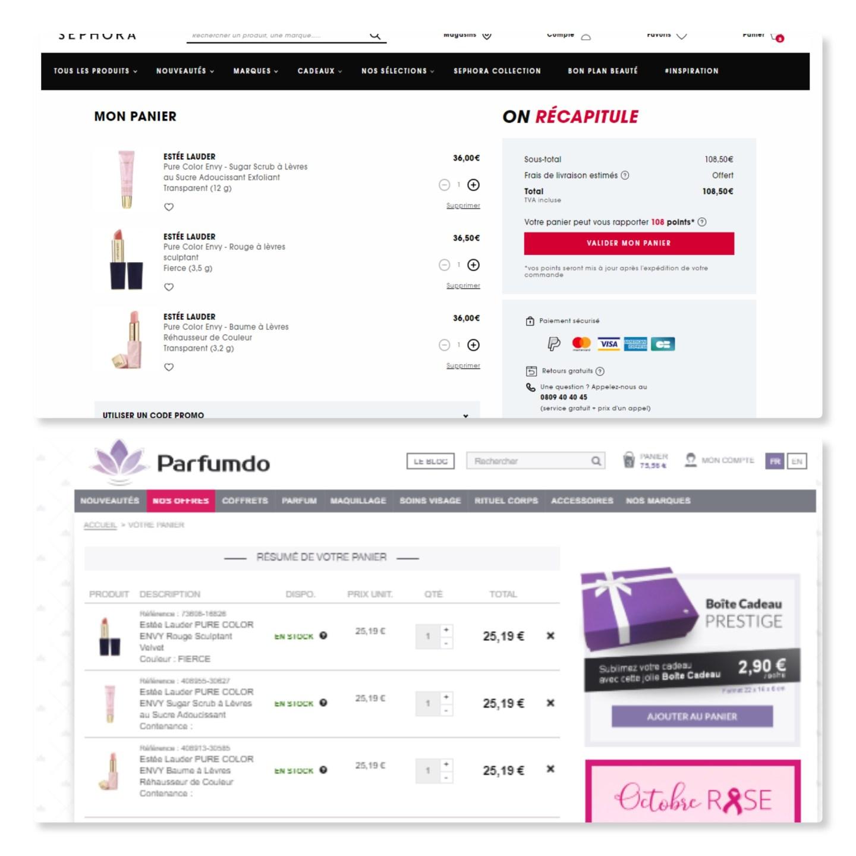 Comparatif parfumdo.com