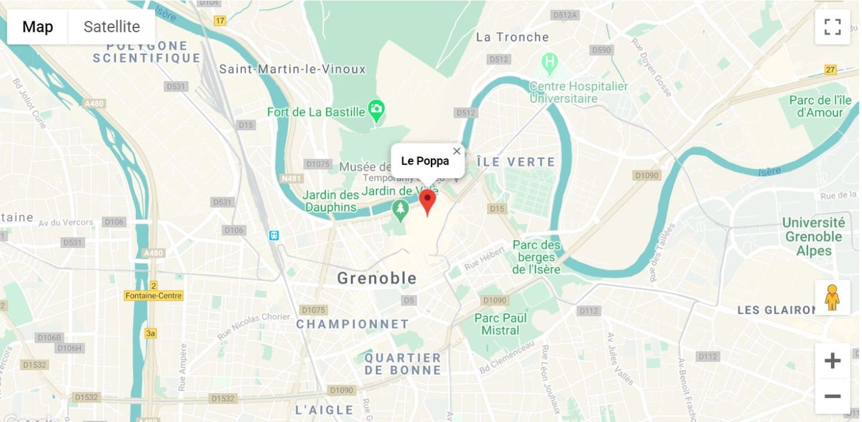 Situation géographique Le Poppa Grenoble