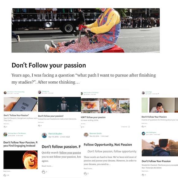 Dont follow your passion blog