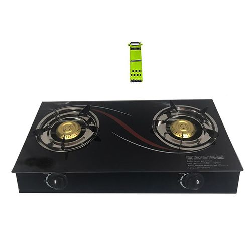 Table Top Gas Double Burner- Glass With Free Kitchen Tool 0 Out Of 5