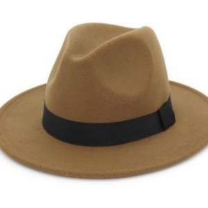 Classic Light Brown Fedora Hat