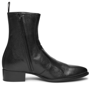Black Skin Leather Luca Boot