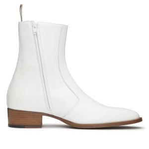 White Leather Luca Boot