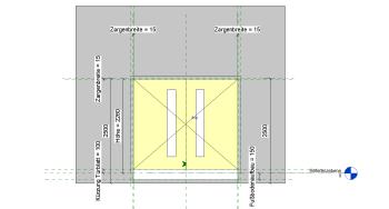 2019 02 08 16h15 24 - Holztür, 2Fl., Umfassungszarge, Glasausschnitt