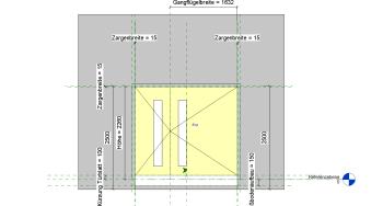 2019 02 08 16h19 22 - Holztür, 2Fl., Umfassungszarge, ungleich, Glasausschnitt