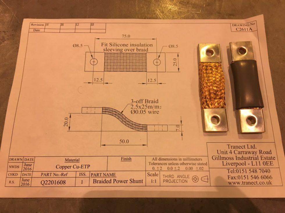 75 mm2 copper braid busbar