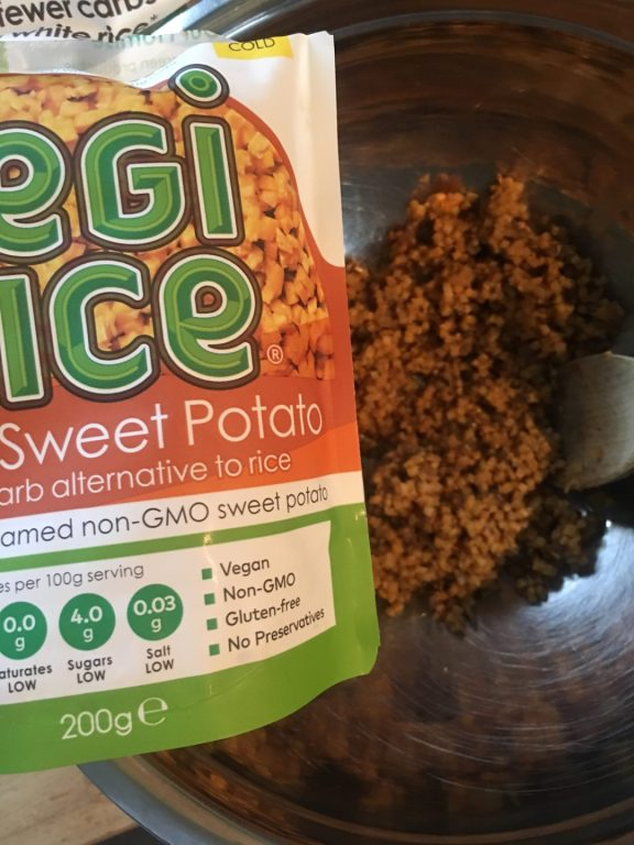 Sweet potato vegi rice