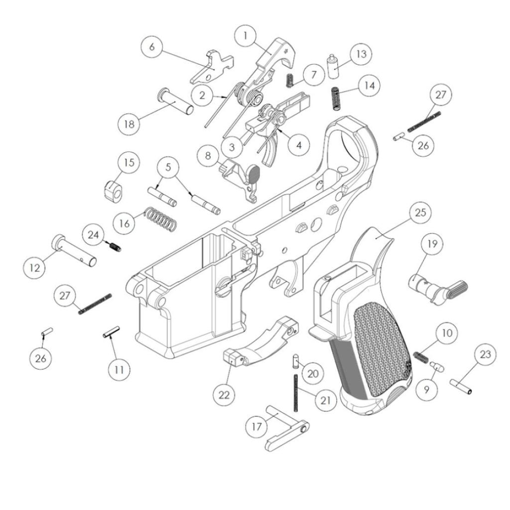 Bcm Gunfighter Ar 15 Enhanced Lower Parts Kit