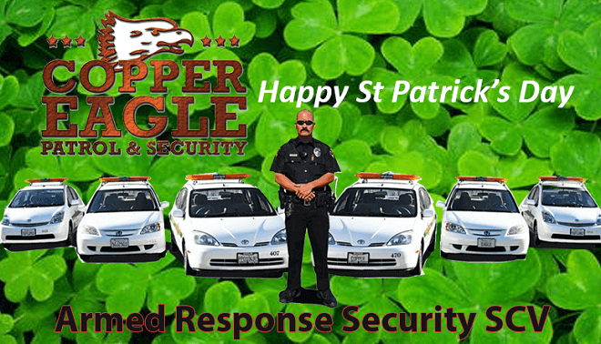 Be Safe on St Patrick's Day | SCV Copper Eagle Patrol and Security