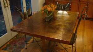 Imagine Copper Kitchen Table
