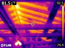 Another view of rafters in the Infrared Spectrum