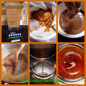 Blend, strain, cook, voila!! Perfect vegan honey
