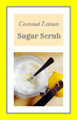 Natural vegan homemade body scrub