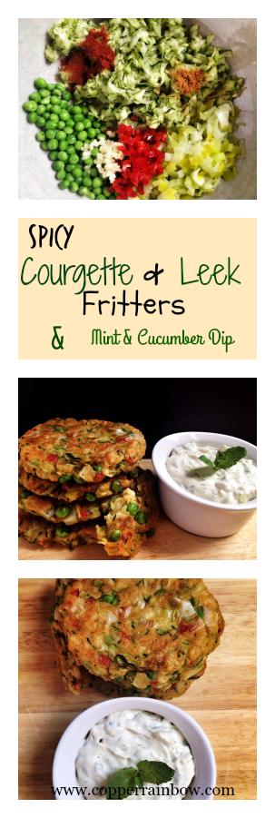 Light yet spicy fritters served with a cooling mint and yoghurt cashew dip