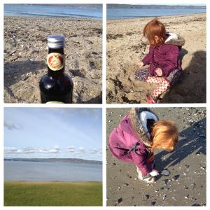 Ginger beer ,sea glass hunting and chilling on the sand...perfect way to spend the day :)