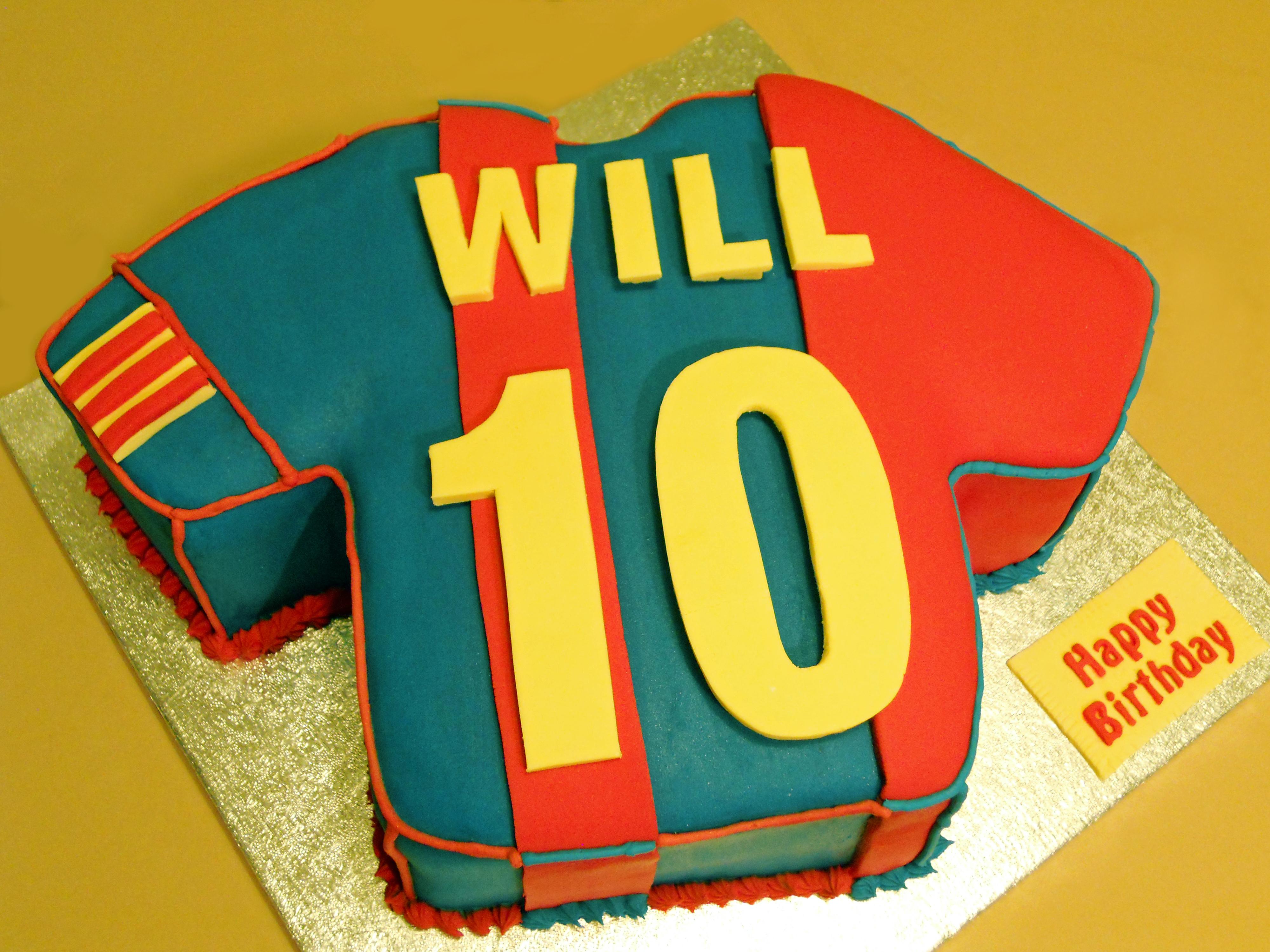 Will S T Shirt Birthday Cake