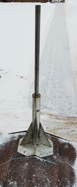 Закладная под медный шпиль из нержавеющей стали марки AISI 304