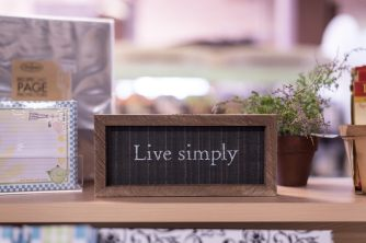 Light of Grace Bookstore Live Simply Decor