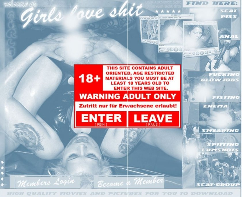 Site Rip Girls-Love-Shit.com - 41 premium videos (2004-2009)