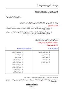 غلاف هامش هام في مخطوطات عديدة - الأستاذ إٍسحاق إبراهيم الباجوشي