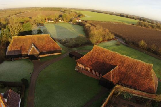 Bird's eye view of one of Essex County Council's historic sites