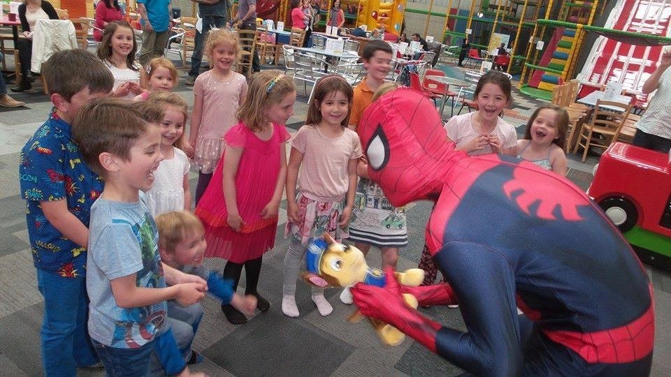 spider themed kids party Barnsley, tailored party packages