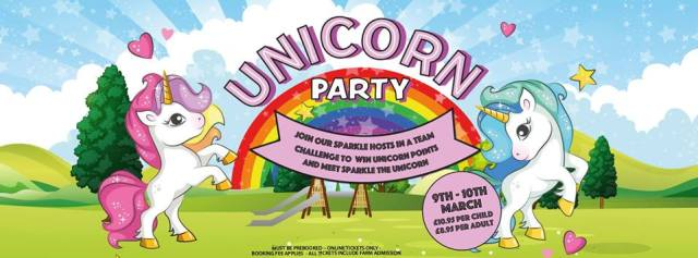 unicorn party at farm