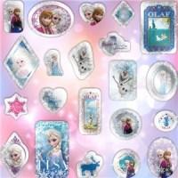 frozen party bags, frozen stickers, disney favors