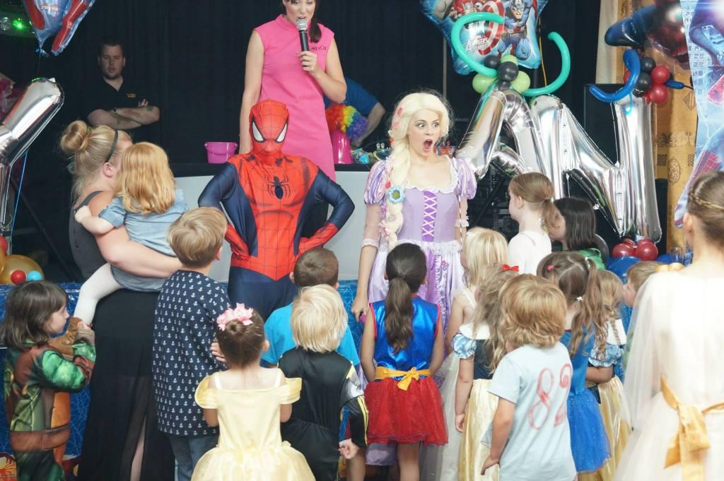 princess vs superhero party