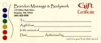 Brandon Massage Gift Certificate