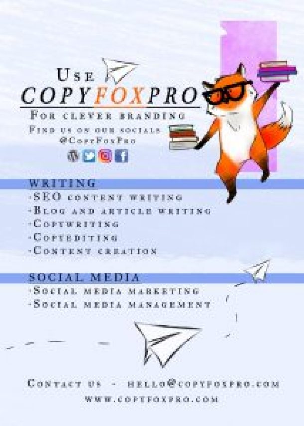 Copy Fox Pro Copywriter Copyeditor Content Creation Social Media Marketer Social Media Manager Copy Fox Pro By Laurrel Allison