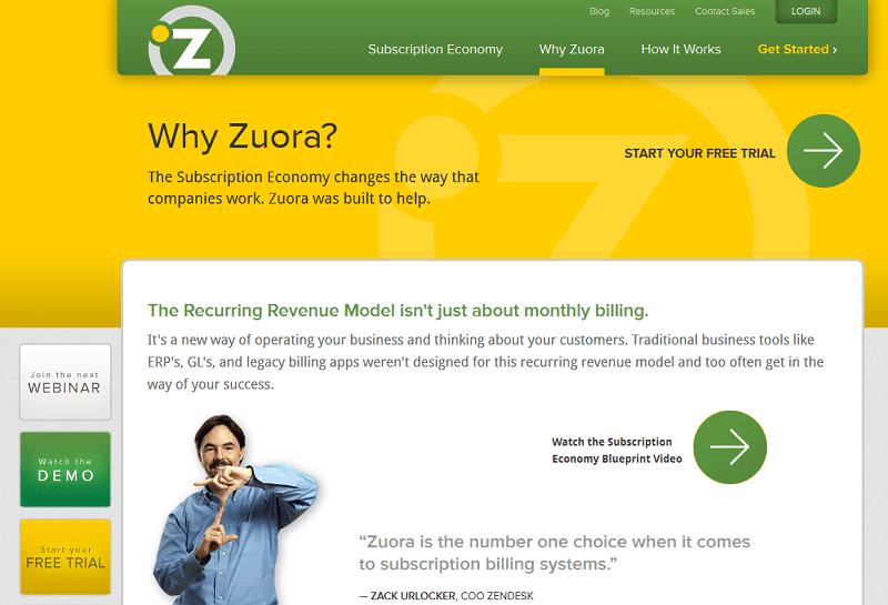 Zuora innovation and tone